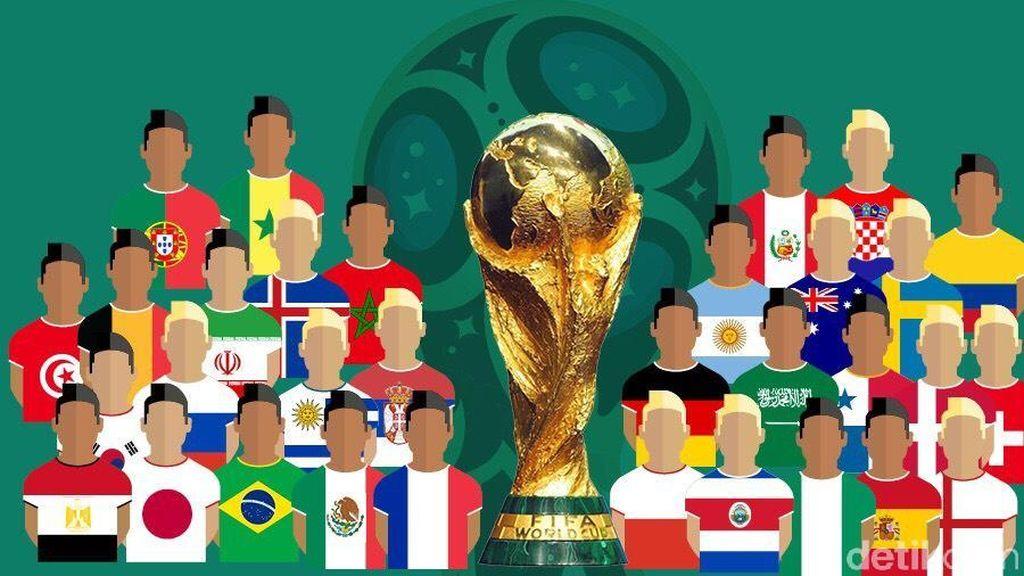 Inilah 32 Negara yang Lolos Piala Dunia 2018