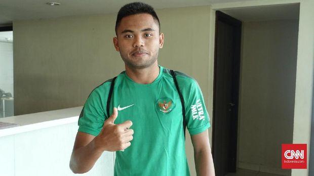 Gelandang Timnas Indonesia, Saddil Ramdani.