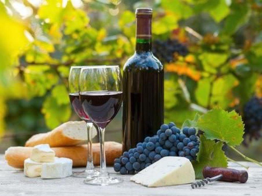 1.000 Liter Wine Mengalir ke Keran Warga Kota Ini