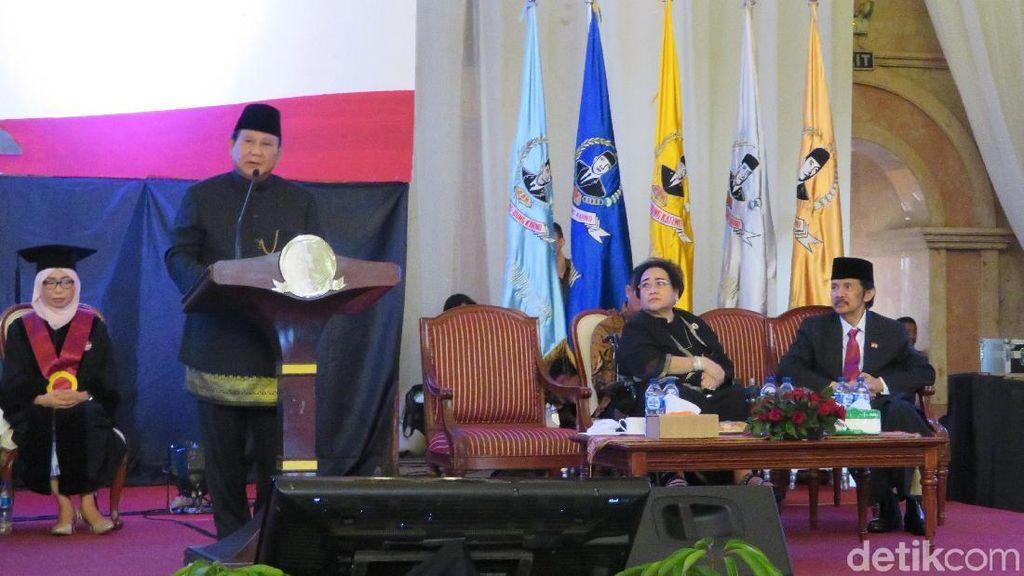 Prihatin Kondisi RI, Prabowo: Bangsa Kita Bangsa yang Kalah