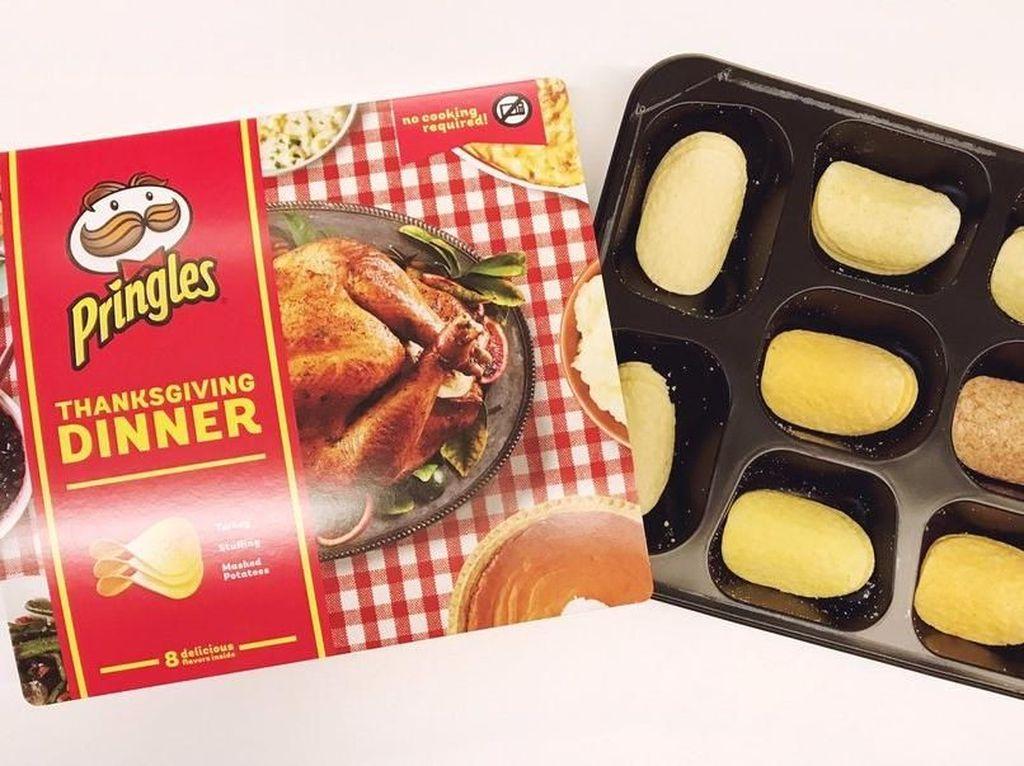 Wow, Pringles Buat Seluruh Hidangan Thanksgiving dalam Bentuk Keripik!