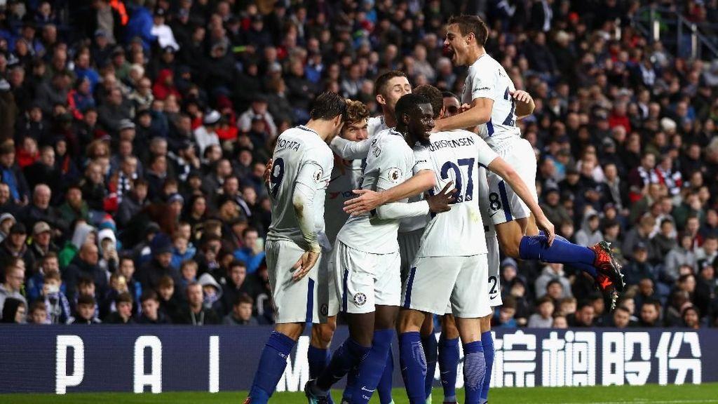 Chelsea Memimpin 3-0 atas West Brom di Babak Pertama