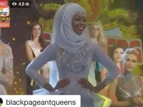 Jarang Terjadi, Hijabers Kaprikornus Juara di Kontes Kecantikan Miss Global