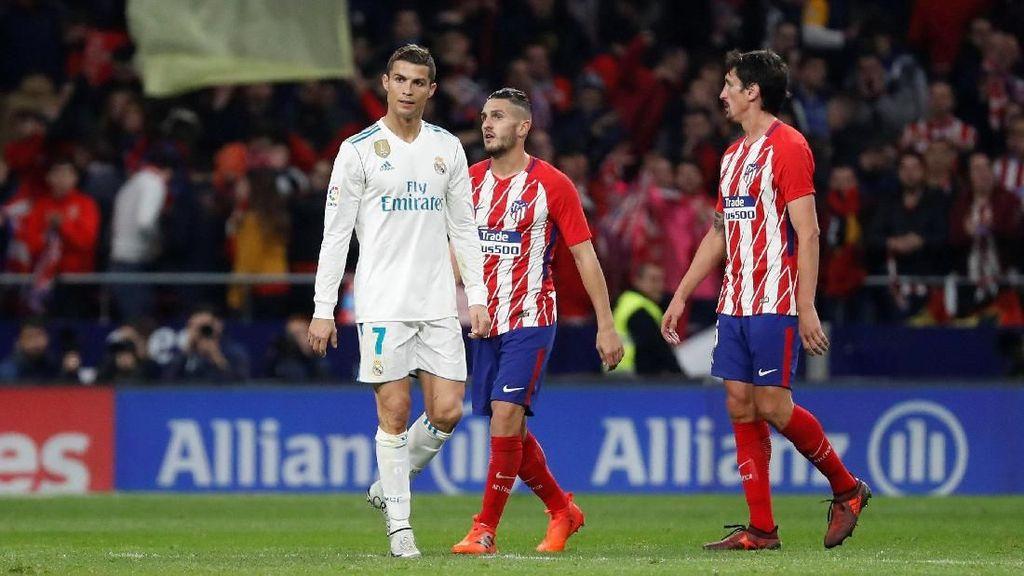 Ronaldo vs Atletico: Kalah Sprint dari Juanfran dan Umpan Cuek yang Gagal