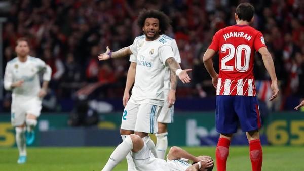Madrid Seri dengan Atletico, Marcelo Sebut Mestinya Ada Tiga atau Empat Penalti