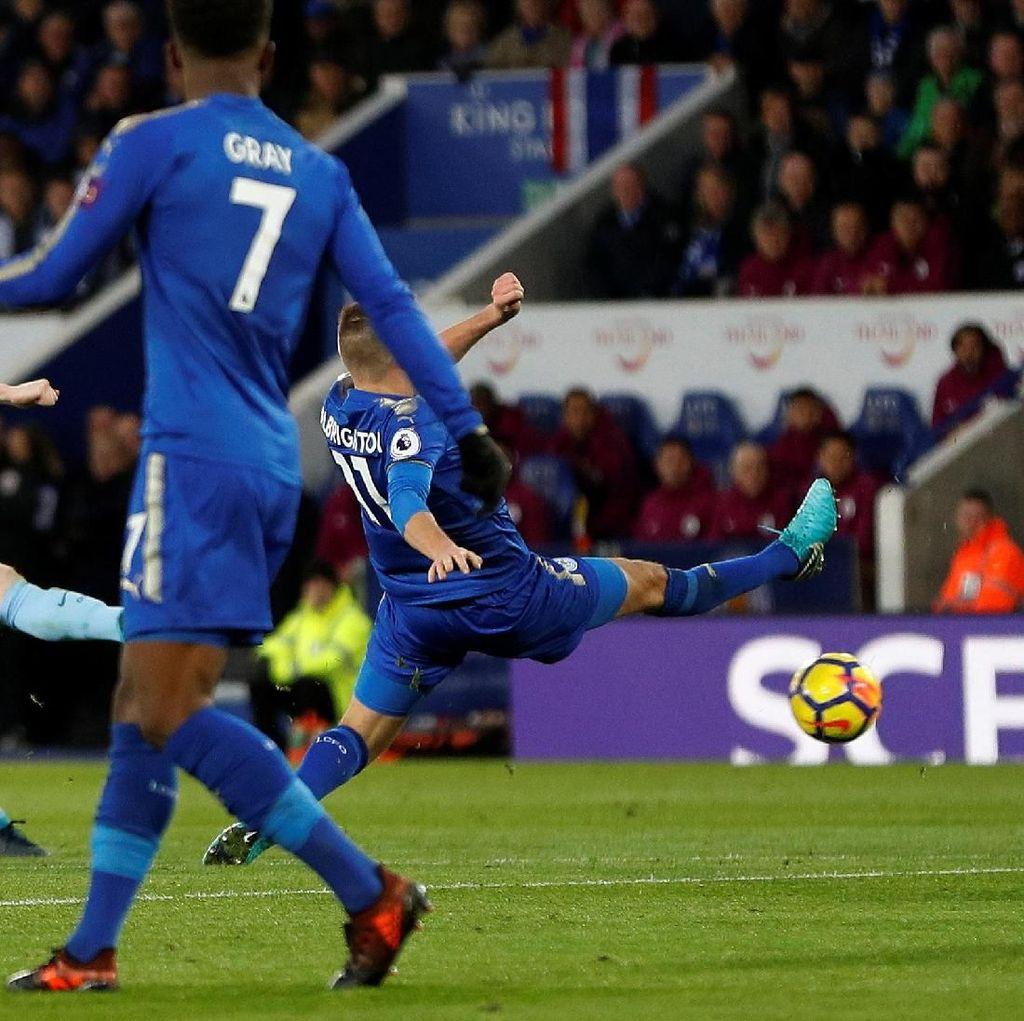 Lanjutkan Keperkasaan, City Tekuk Leicester 2-0