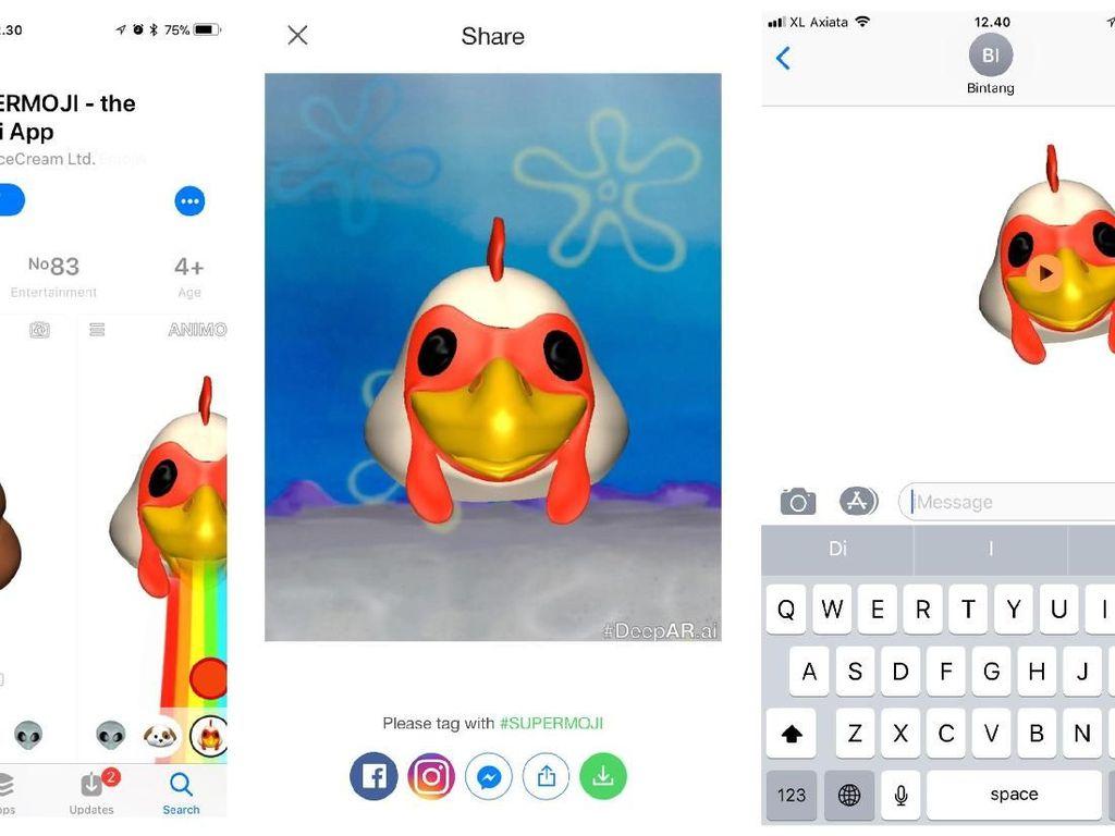 Kirim Animoji Tak Perlu iPhone X, Begini Caranya!