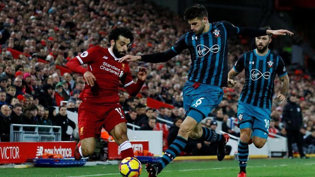 Salah Dua Gol, Liverpool Libas Southampton 3-0