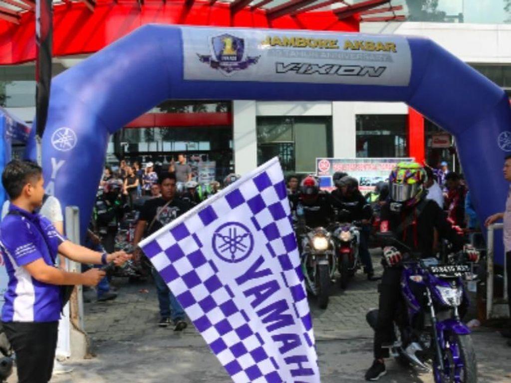 Meriahnya Jambore 1 Dekade Vixion di Tanah Sumatera