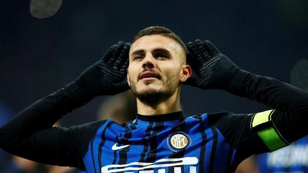 Mauro Icardi jadi mimpi buruk bagi lini pertahanan Sampdoria.