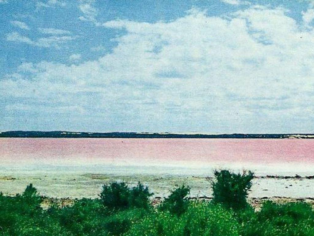 Lake Pink di Australia Barat Tidak Lagi Merah Muda