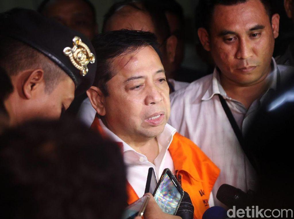 Kejanggalan Novanto di Antara Netizen dan KPK: Jidat Bakpao sampai Infus Anak