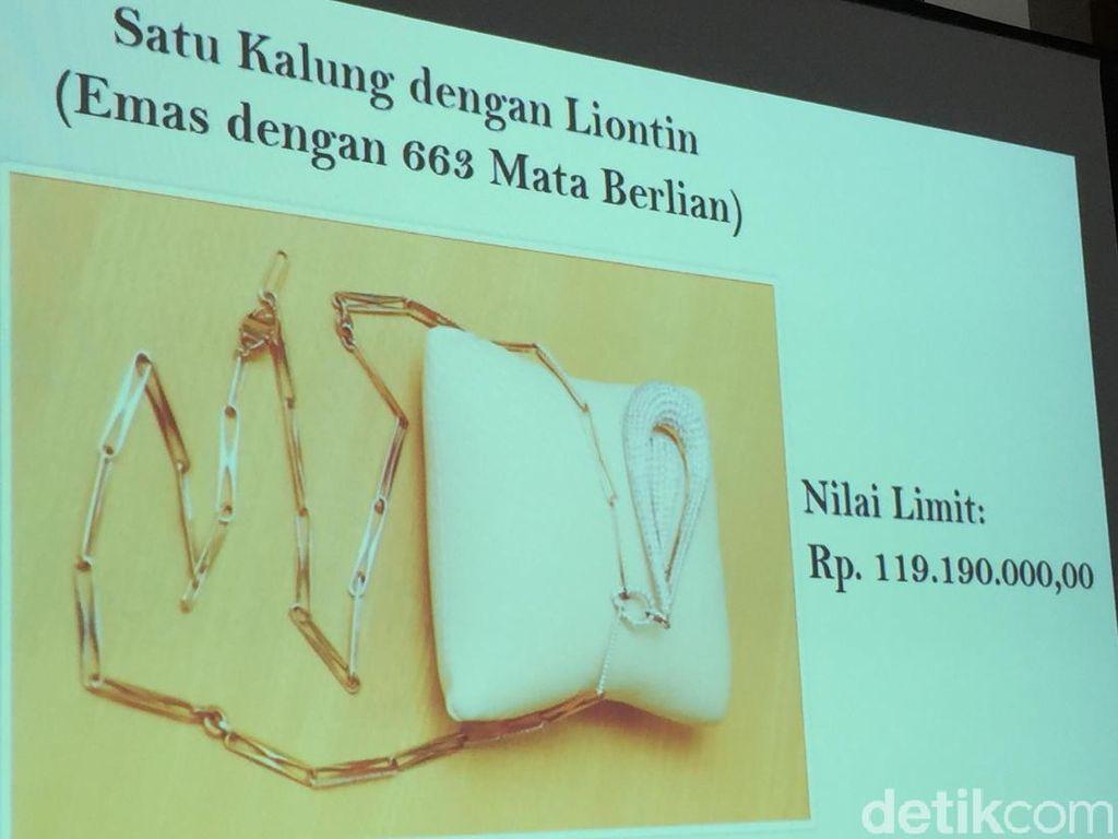 Perhiasan yang Dilelang KPK, Ada Kalung dengan 336 Mata Berlian