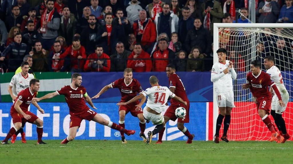 Buang Keunggulan Tiga Gol, Liverpool Diimbangi Sevilla 3-3