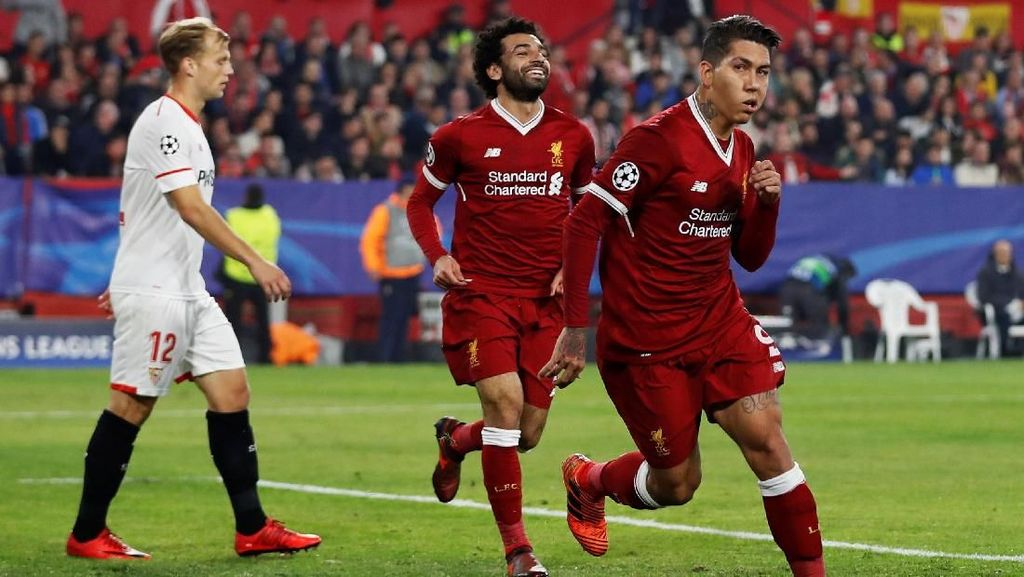 Liverpool Ungguli Sevilla 3-0 di Babak Pertama