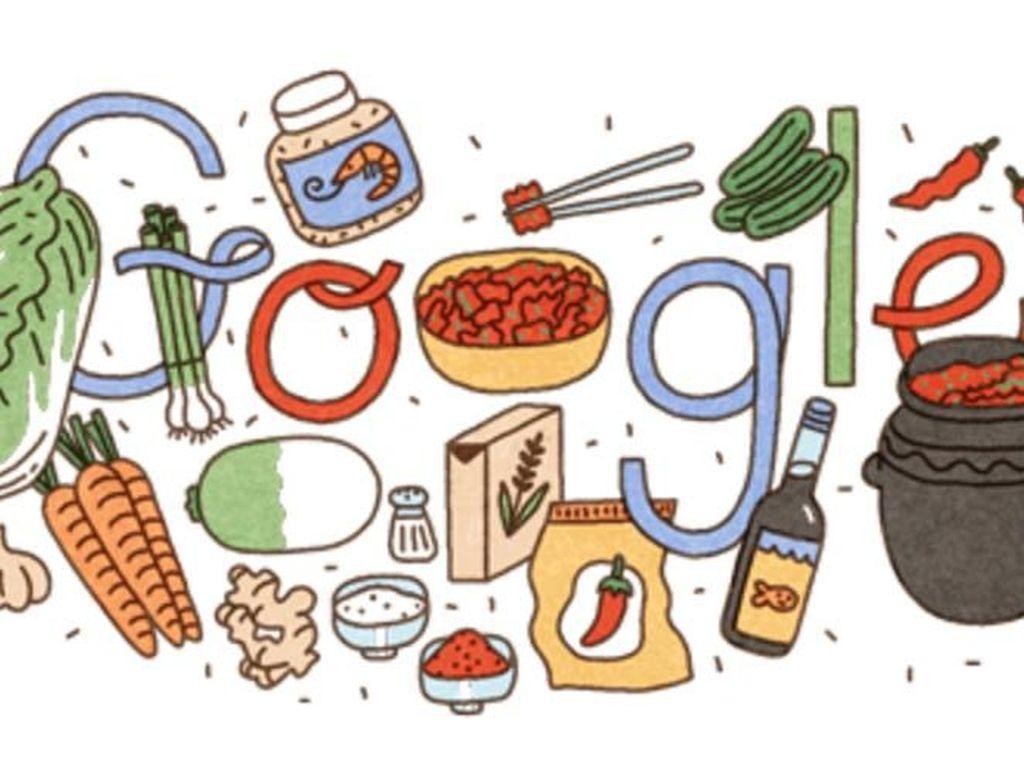 Kimchi Jadi Google Doodle Hari Ini, Ada Apa Ya?