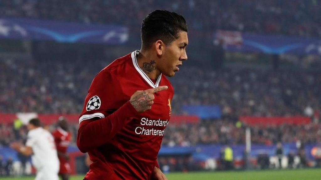 Gol-gol Firmino vs Sevilla: Di Detik ke-85 lalu Gaya Tengok Belakang