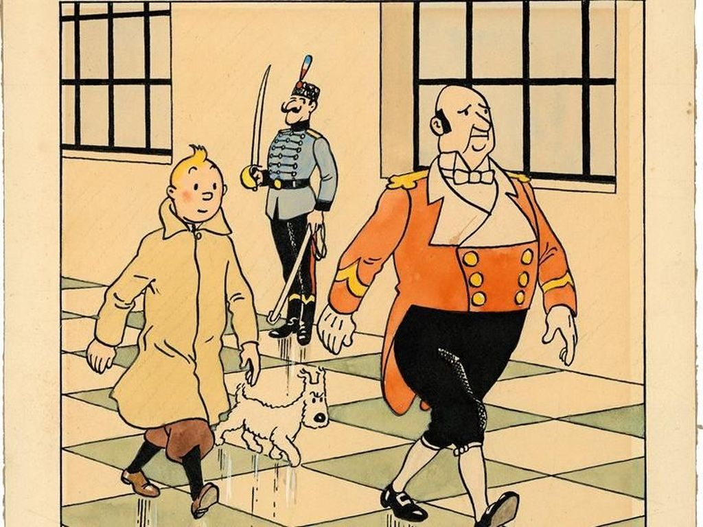 Lukisan Langka Tintin dan Anjing Kesayangannya Terjual Rp 8 M
