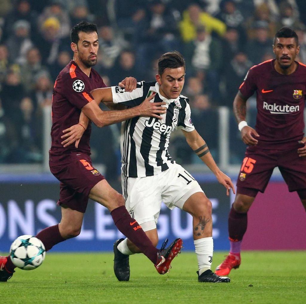 Juventus vs Barcelona Masih Tanpa Gol