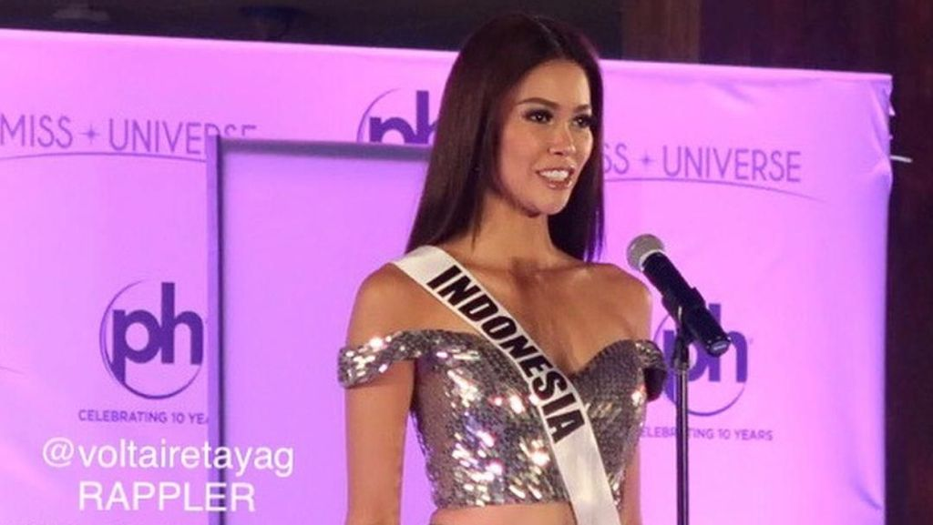 Bunga Jelitha Nangis dan Minta Maaf Gagal Masuk Top 16 Miss Universe 2017
