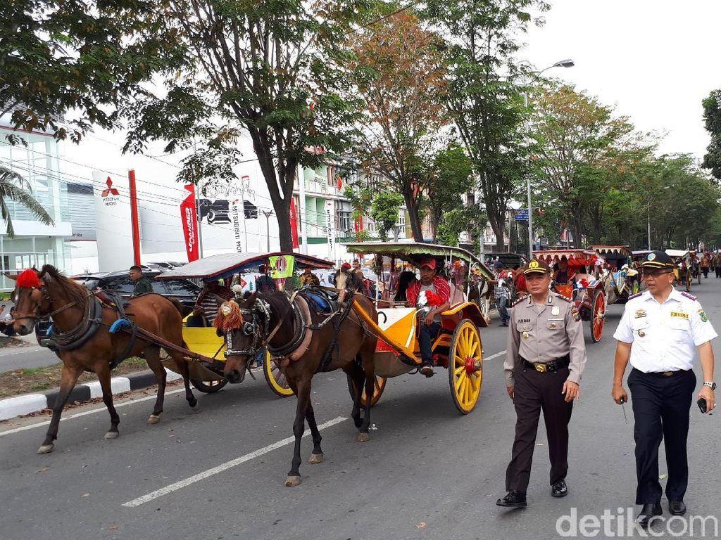 Begini Rekayasa Lalin Saat Kirab Kahiyang-Bobby di Medan