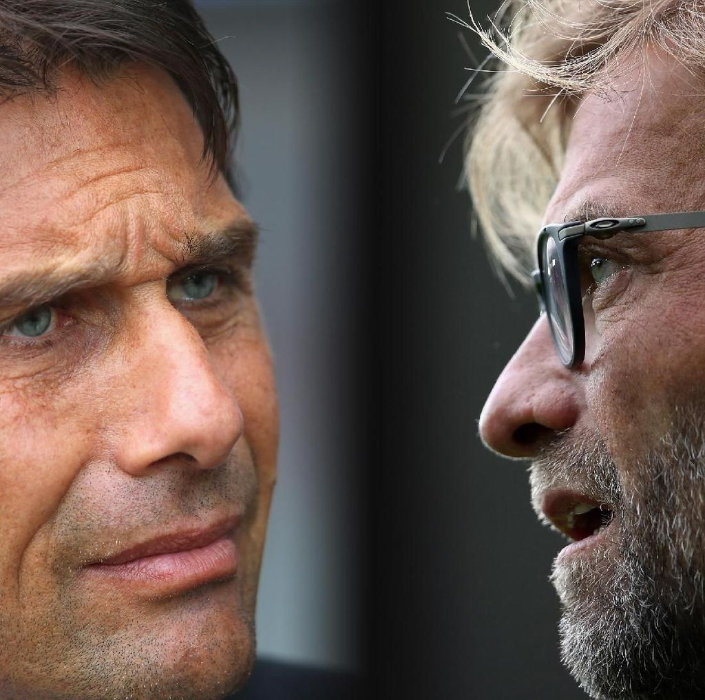 Duel Liverpool vs Chelsea: Adu Ekspresi Klopp vs Conte