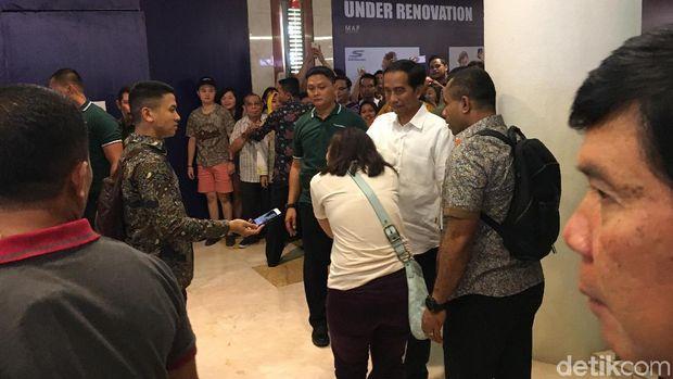Presiden Jokowi di Sun Plaza Medan /