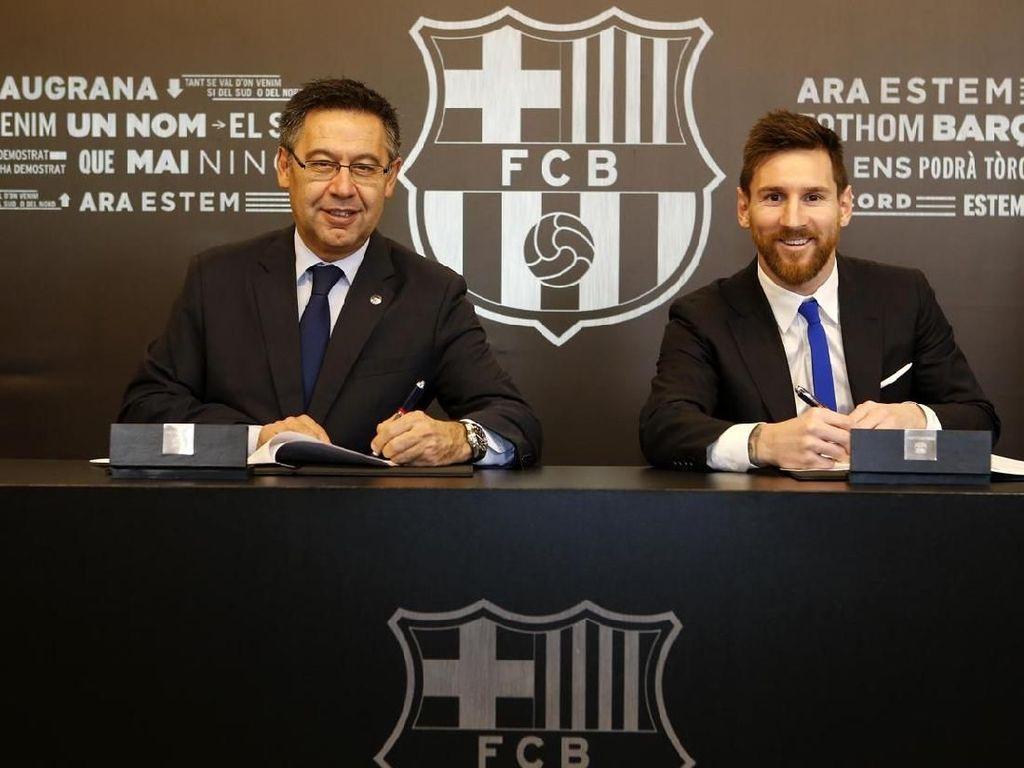 Messi Perpanjang Kontrak di Barcelona Hingga 2021!