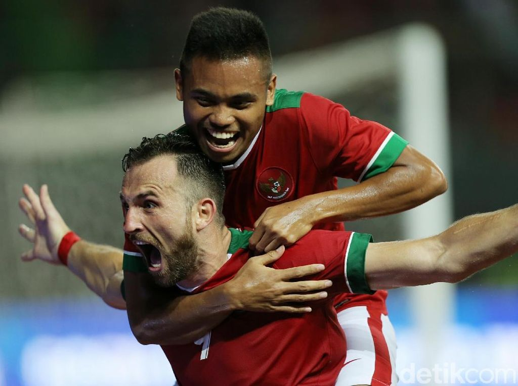 Spasojevic Dua Gol, Indonesia Kalahkan Guyana 2-1