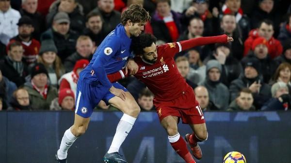 Ketat, Liverpool vs Chelsea Berakhir 1-1