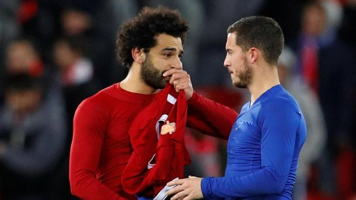 Mohamed Salah dan Eden Hazard (Phil Noble/Reuters)