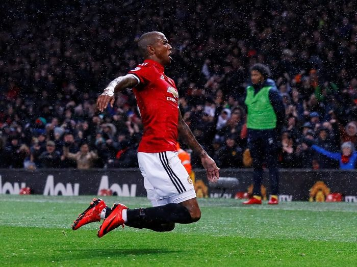 Pemain Manchester United, Ashley Young (Foto: Jason Cairnduff/Reuters)
