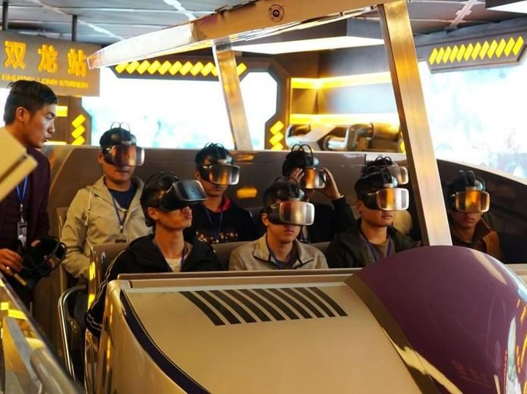 Foto: Segera Hadir, Taman Rekreasi Virtual Reality di China
