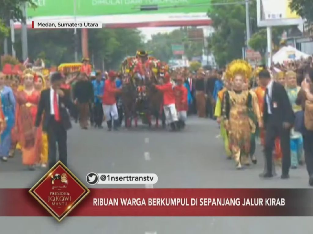 Hebohnya Warga Medan Serukan Nama Jokowi Saat Kirab Kahiyang-Bobby