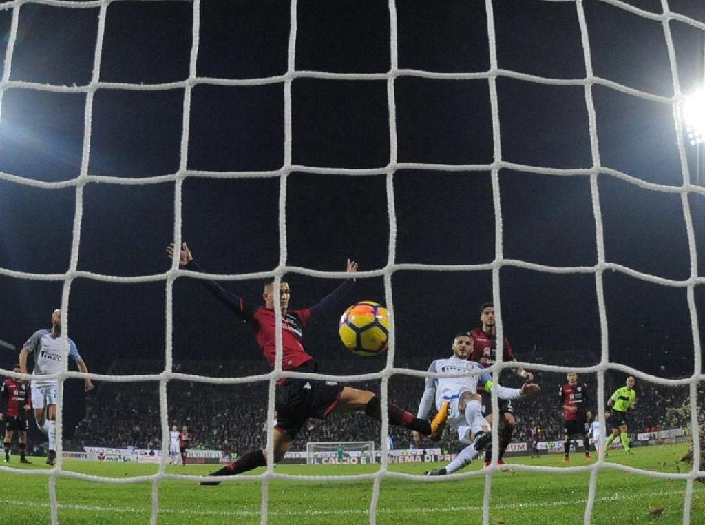 Kalahkan Cagliari 3-1, Inter Sementara Puncaki Klasemen