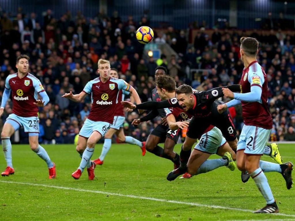 Lagi, Drama Gol di Injury Time Warnai Kemenangan Arsenal atas Burnley