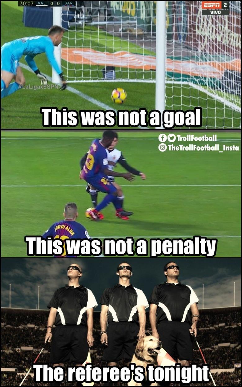 Meme Meme Lucu Gol Hantu Messi Ke Gawang Valencia