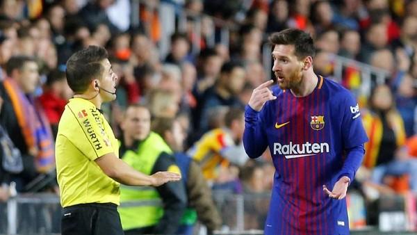 Perayaan, Amarah, Kekecewaan, dan Protes Messi di Mestalla
