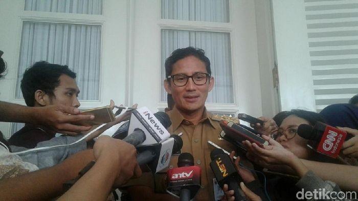 Wagub DKI Jakarta Sandiaga Uno (Mochamad Zhacky Kusumo/detikSport)