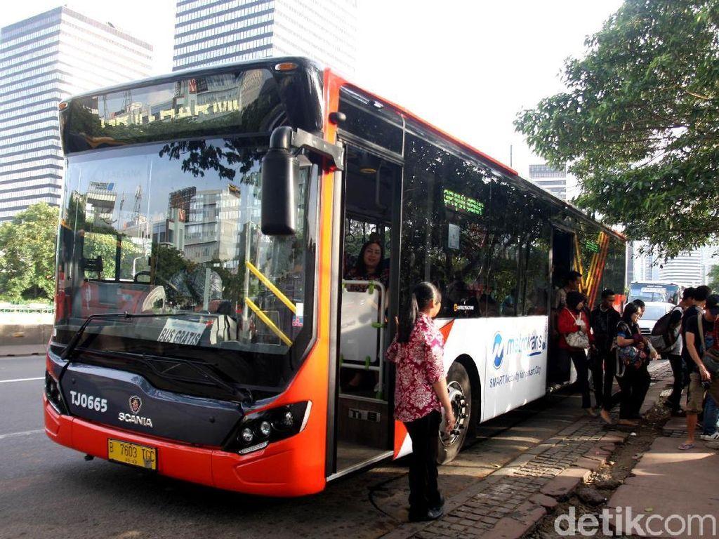 Uji Coba Bus Metrotrans