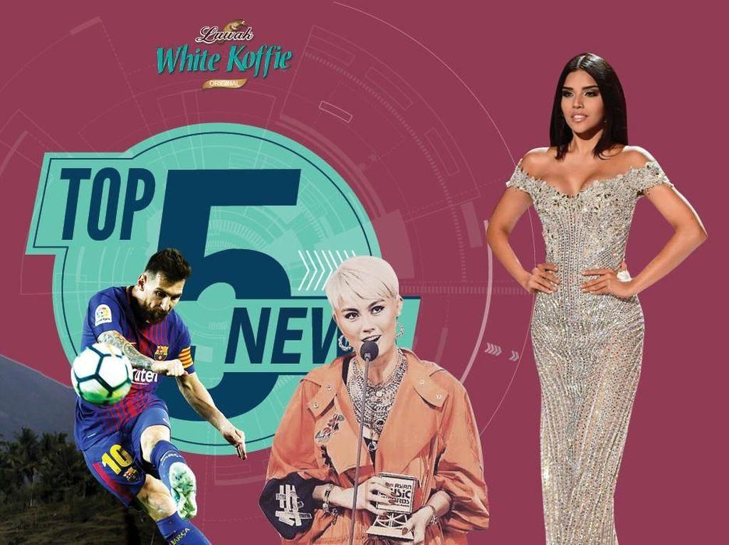 Lahar Dingin Muncul di Gunung Agung, Bunga Gagal di Miss Universe