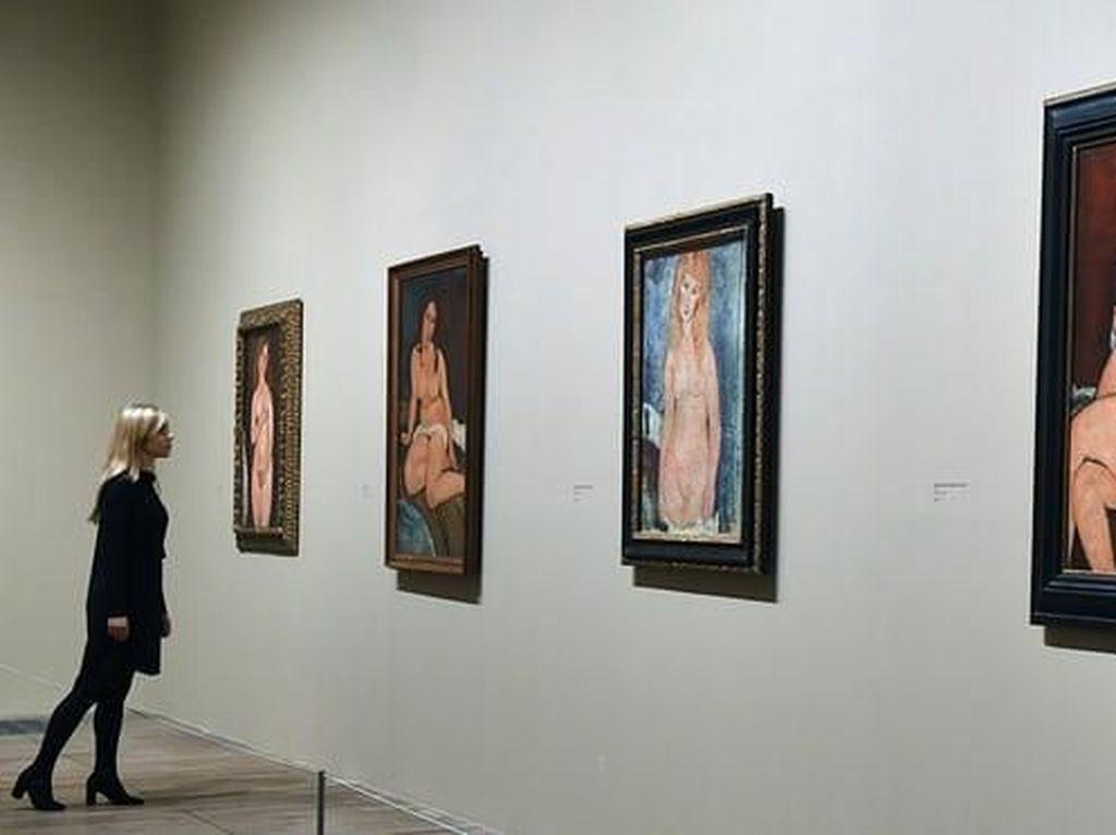 12 Lukisan Telanjang Mahakarya Modigliani Dipamerkan di Inggris