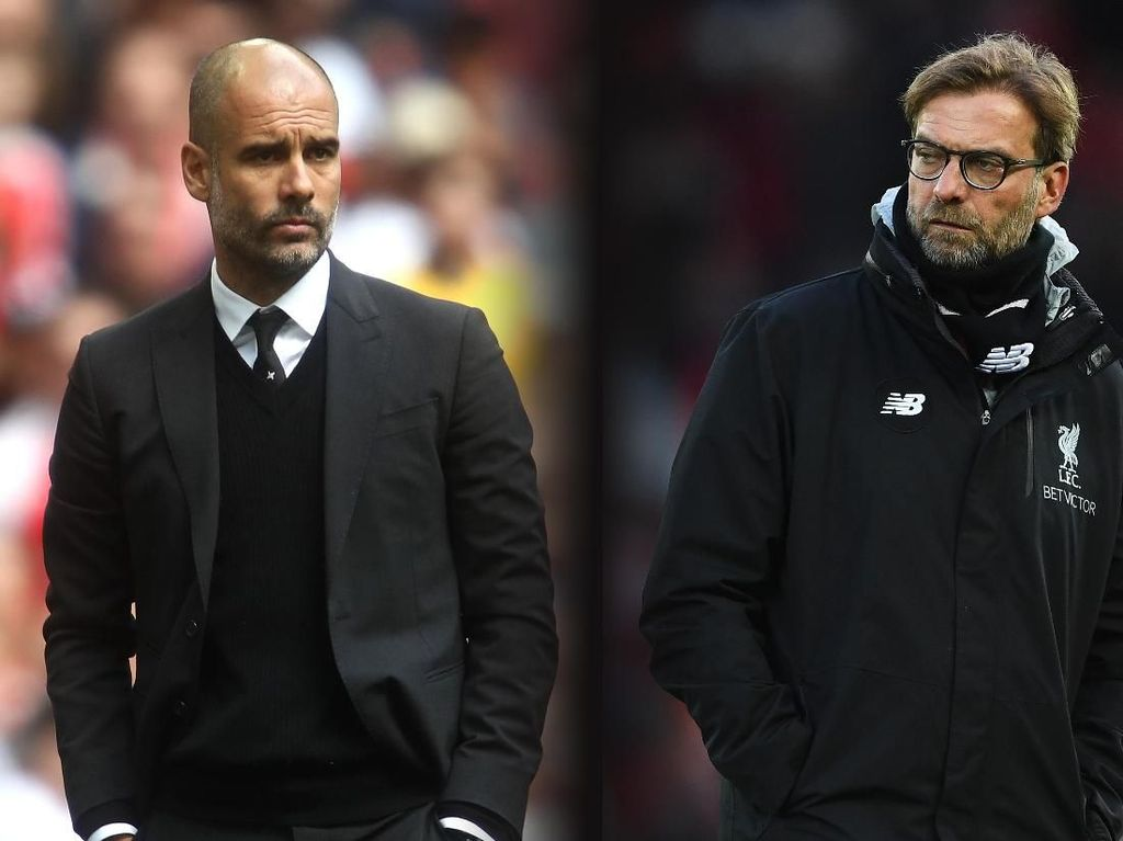 Catatan Head to Head: Klopp Ungguli Guardiola