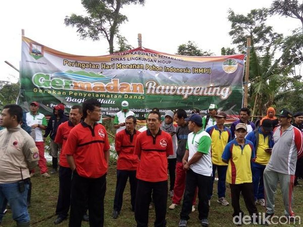 Jaga Cadangan Air, 2.800 Pohon Ditanam di Hulu Sungai Rawa Pening