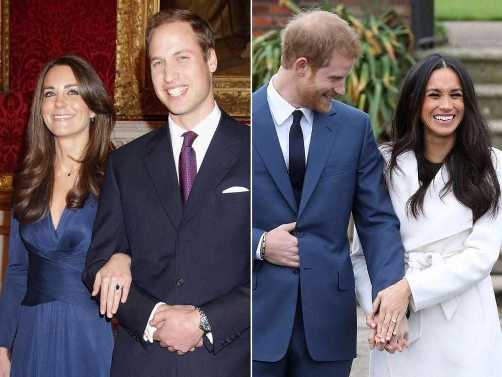 Beda Pertunangan Pangeran Harry-Meghan Markle dengan William-Kate Middleton