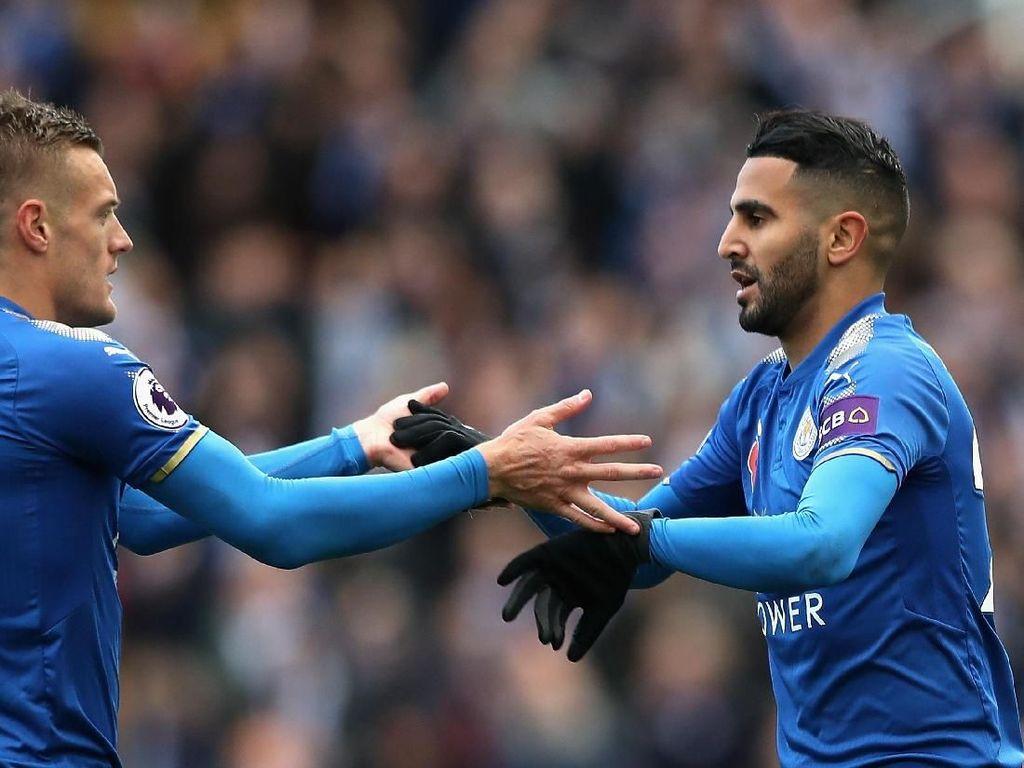 Vardy-Mahrez Akhirnya Bikin Gol Barengan Lagi