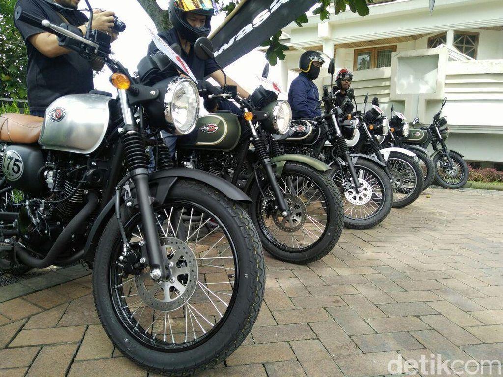 150 Unit Kawasaki W175 Sudah Disebar