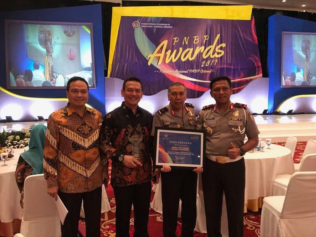 Polri Raih PNBP Award dari Kementerian Keuangan