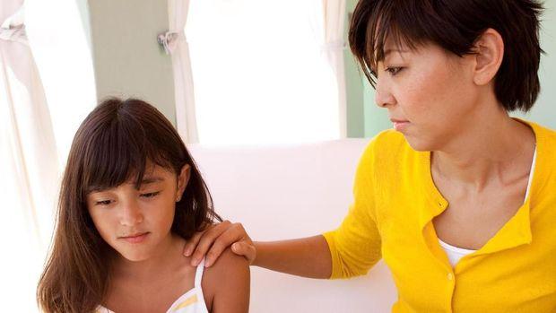 Ilustrasi anak melawan orang tua