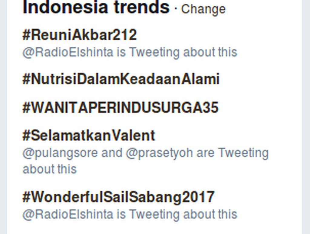#ReuniAkbar212 Puncaki Trending Topic Twitter